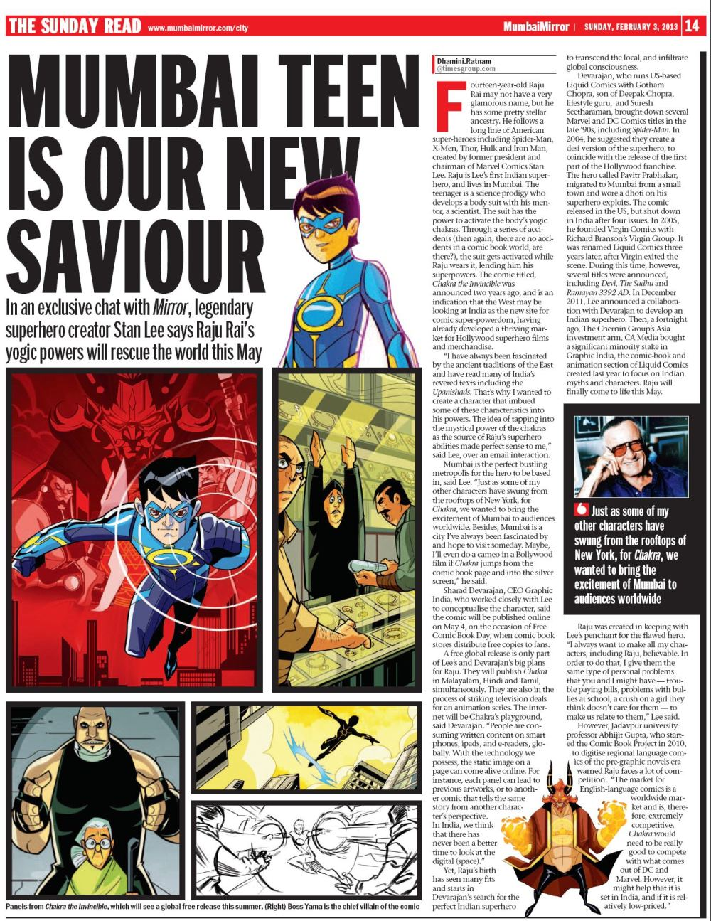 Mumbai_mirror_Stan_Lee